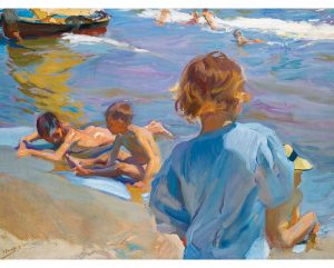 Niños En La Playa, lienzo de Sorolla. Children On The Beach, canvas print reproduction of Sorolla