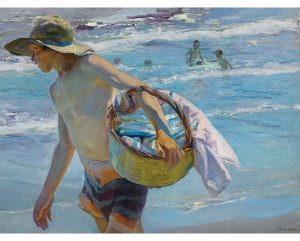 El Pescador lienzo de Sorolla. The Fisherman, canvas print reproduction of Sorolla