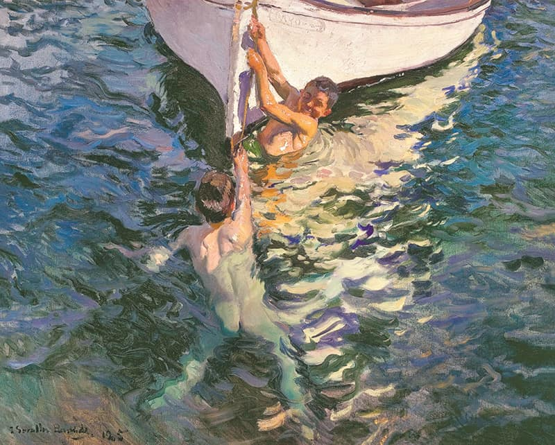 El bote blanco, lienzo de Joaquin Sorolla, The White Boat, canvas print by Sorolla
