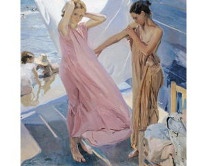 Despues Del Baño, lienzo de joaquin Sorolla. After Bathing Valencia, canvas print by Sorolla by