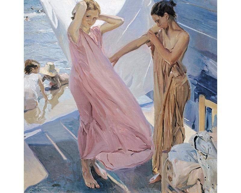 Despues Del Baño, lienzo de joaquin Sorolla. After Bathing Valencia, canvas print by Sorolla by