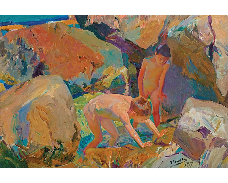 Niños Buscando Mariscos, property of Bancaja Foundation, one of the typical works of Sorolla
