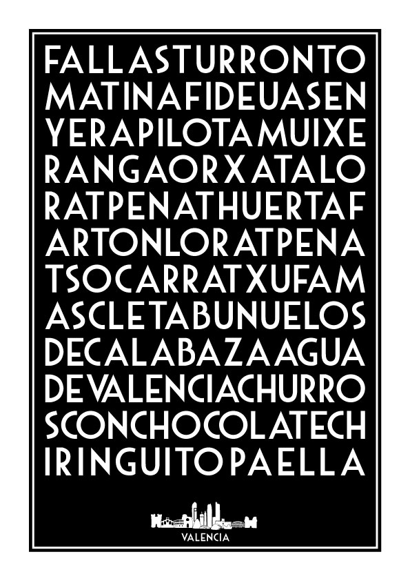 Valencia Palabras Lamina