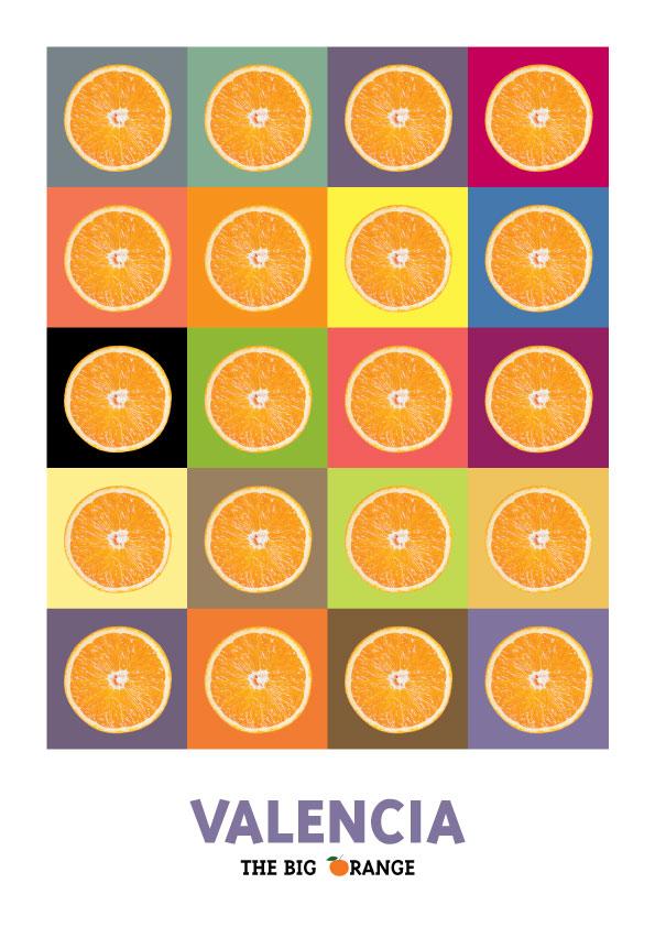 Naranjas en Valencia lamina / poster