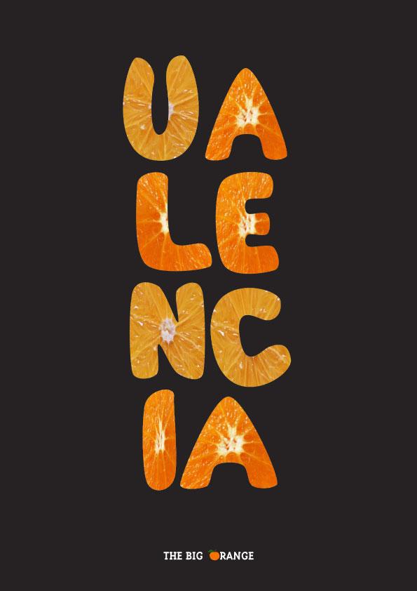 Valencia Naranja lamina / poster