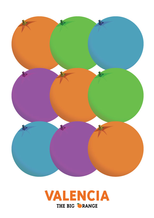Naranja de Valencia lamina / poster