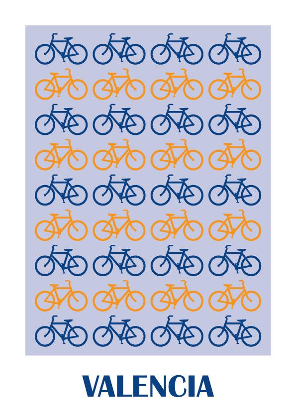 Valencia Bicicletas Lamina