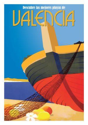 Mejores Playas de Valencia, lamina decorativa / poster de Artespana
