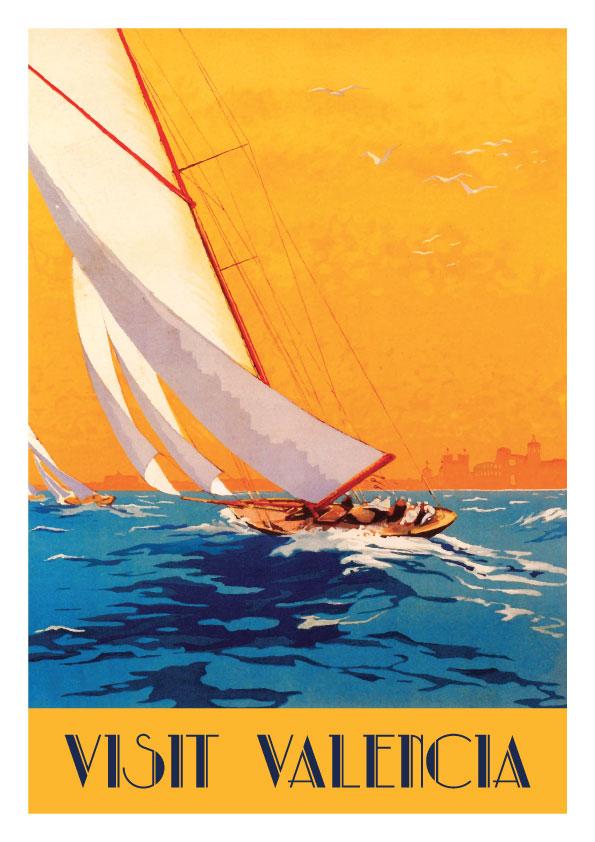 Valencia Costa, lamina / poster by Artespana