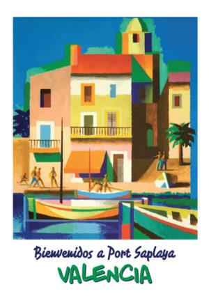 Port Saplaya, la pequeña Venecia lamina / poster