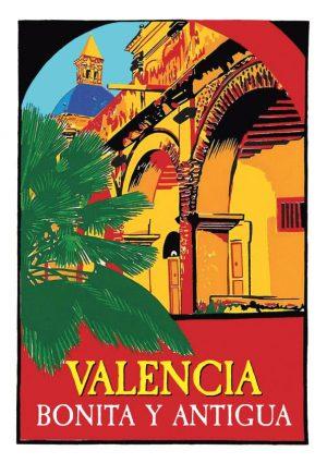 Valencia Antigua y Bonita lamina / poster
