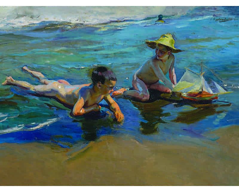Niños en la playa 1904 de Sorolla