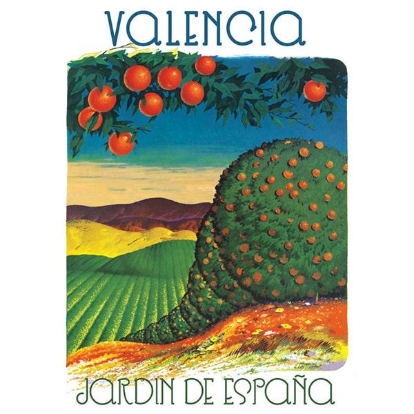 Cartel Valencia, Jardin de Espana, de Artespana Imprenta Valencia, impresion digital